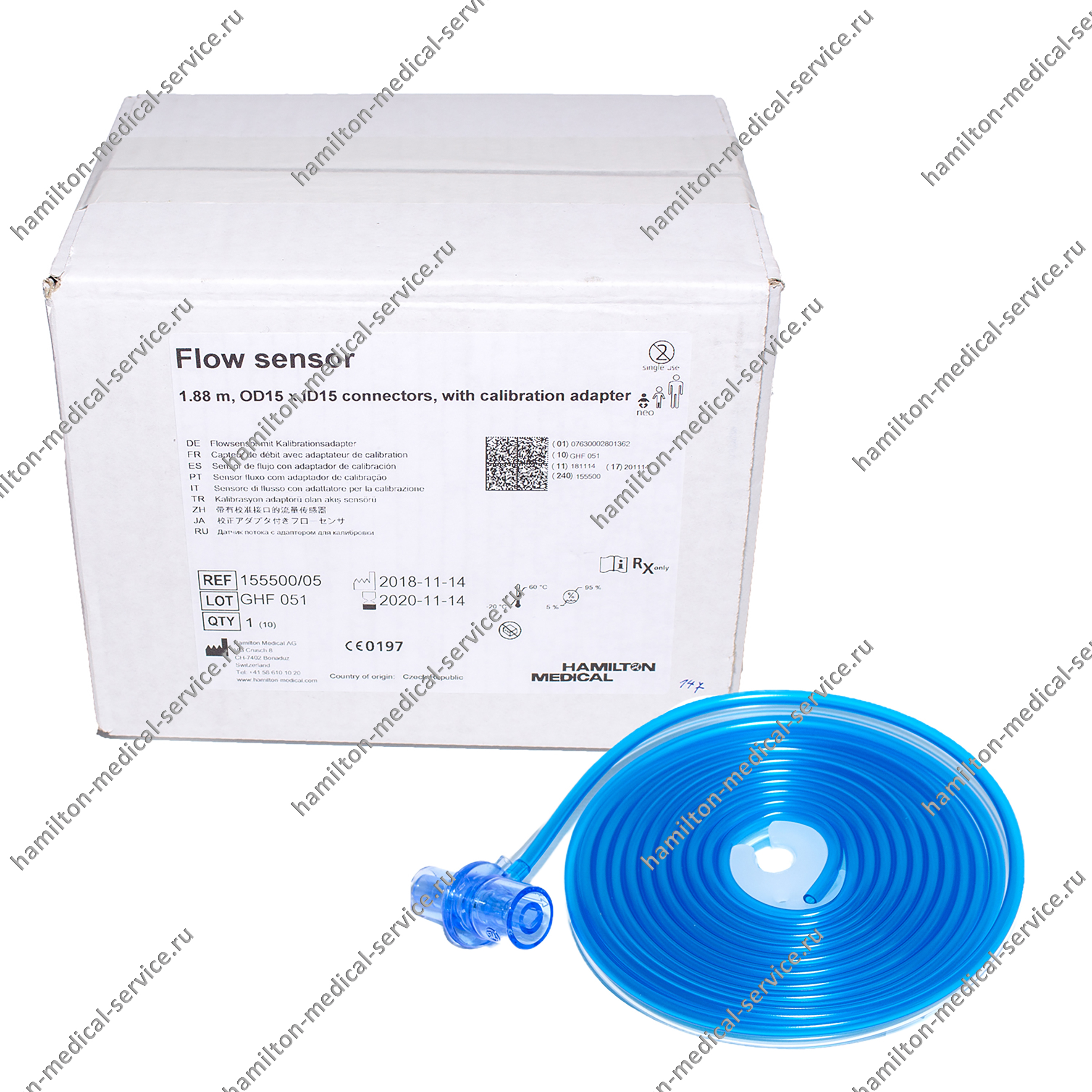 Упаковка датчиков потока, для новорожденных младенцев, 188 см., 10 шт.