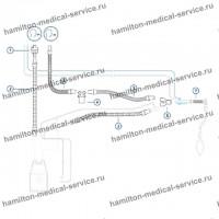 Комплект многоразового автоклавируемого дыхательного контура с У-образным коннектором ИВЛ для детей