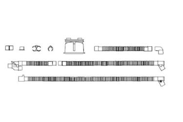 Комплект дыхательного контура: двойной провод-нагреватель