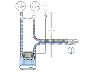 HAMILTON-BC8022: комплект одноразовых дыхательных контуров для взрослых и детей с У-образным коннектором