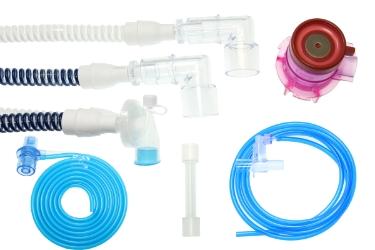 Комплект дыхательного контура с У-образным патрубком