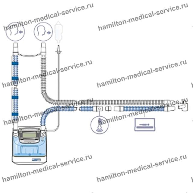 Одноразовый дыхательный контур ИВЛ детский, неонатальный с У-образным разъемом (BC8010)