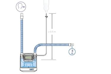HAMILTON-BC4022: комплект одноразовых дыхательных контуров для взрослых и детей с одним патрубком