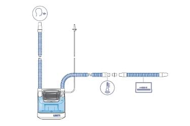 HAMILTON-BC4010: комплект одноразовых дыхательных контуров для младенцев и детей с одним патрубком