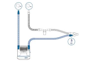 HAMILTON-BC8022-A: комплект нагреваемого дыхательного контура с У-образным коннектором