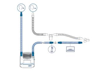 HAMILTON-BC8010-A: комплект дыхательного контура для младенцев с У-образным патрубком
