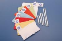 Чепчики с фиксирующими застежками, размер L (синие)