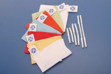Чепчики с фиксирующими застежками, размер XXXL (белые)